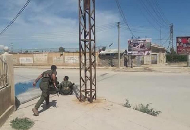 Starcia pomiędzy kurdyjską policją a siłami syryjskiego reżimu w Al-Kamiszli